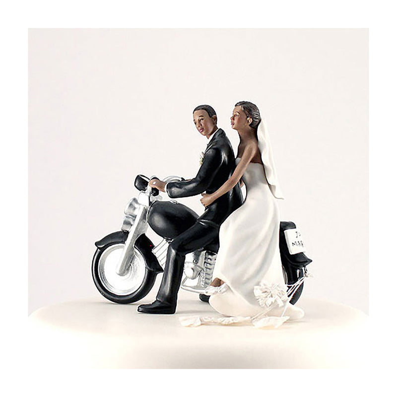 Motorcycle cake topper dark skin