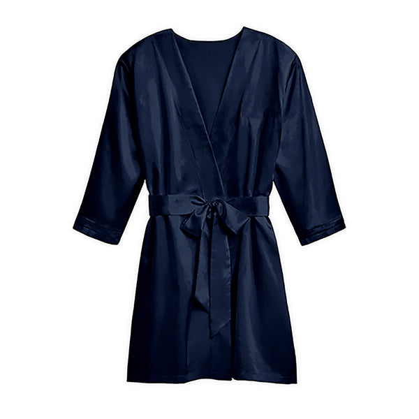Silky navy bridesmaid robes
