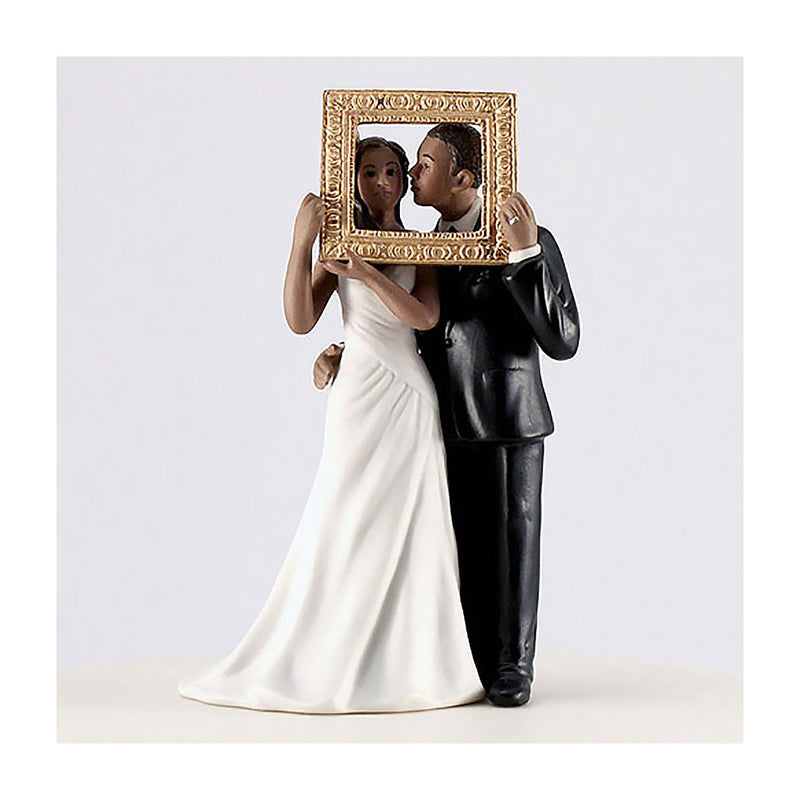 Picture Perfect cake topper dark skin