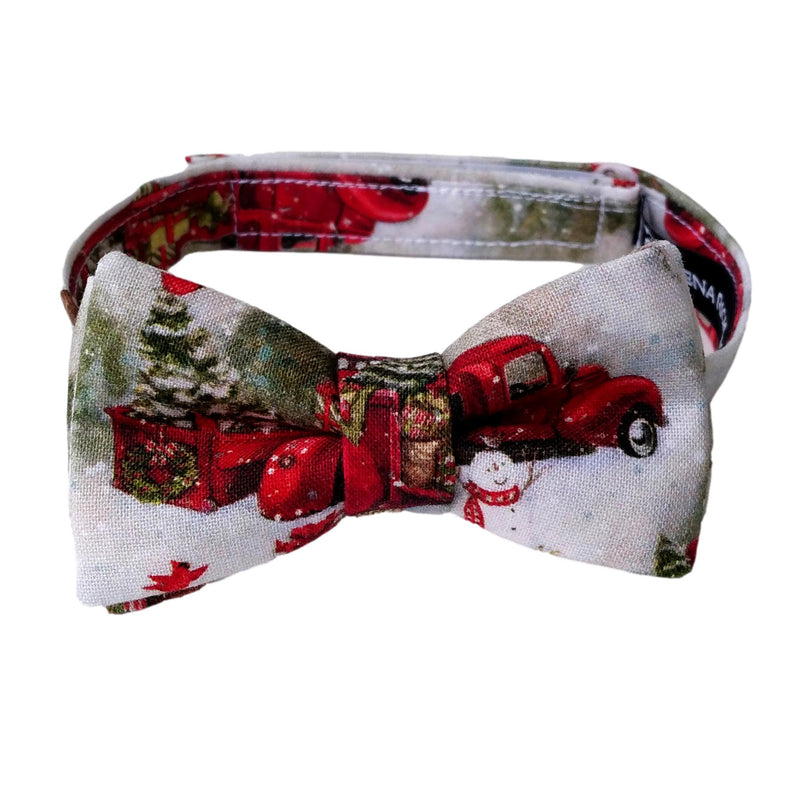 Boys Vintage Red Truck Bow Tie for the Holidays