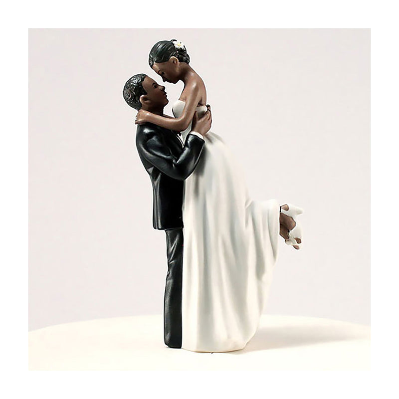 True Romance cake topper dark skin