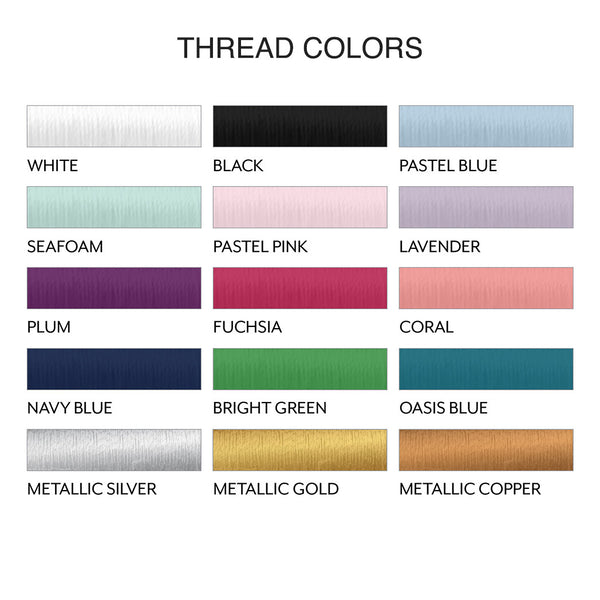 thread colors for waffle cosmetic bags