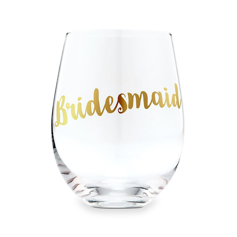 Stemless Wine Glasses for the Bridal Party