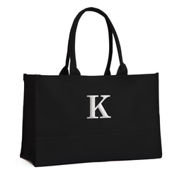 Black Canvas City Tote Personalized