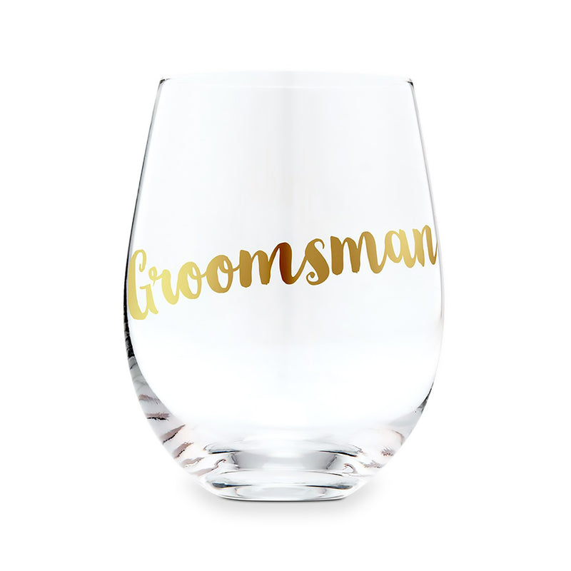 Stemless Wine Glasses for the Groom and Groomsman