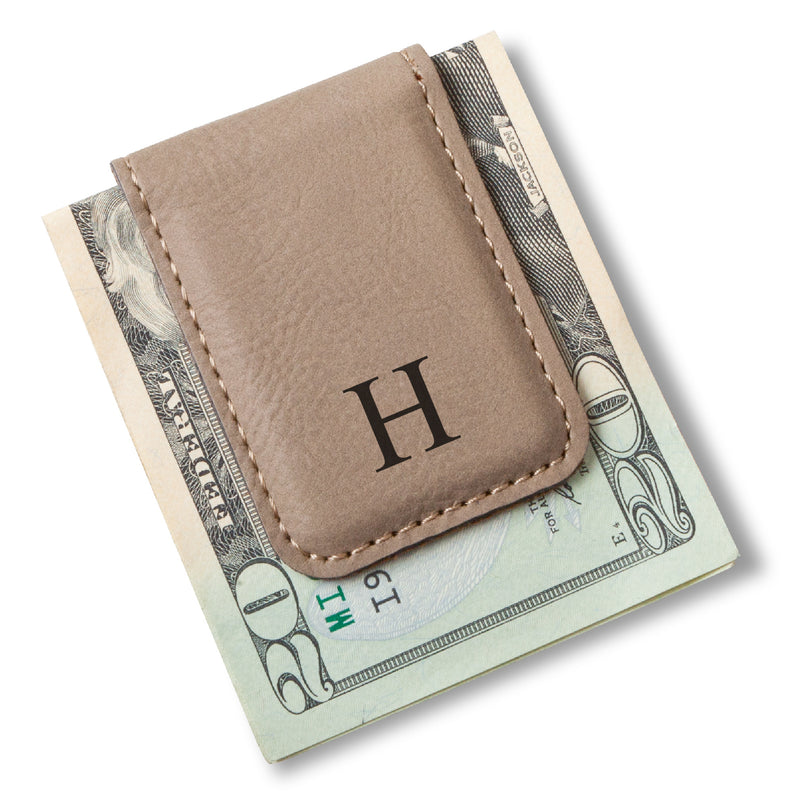 Leather Money Clip in Black, Brown, Tan and Gray