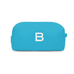 small turquoise cosmetic bag
