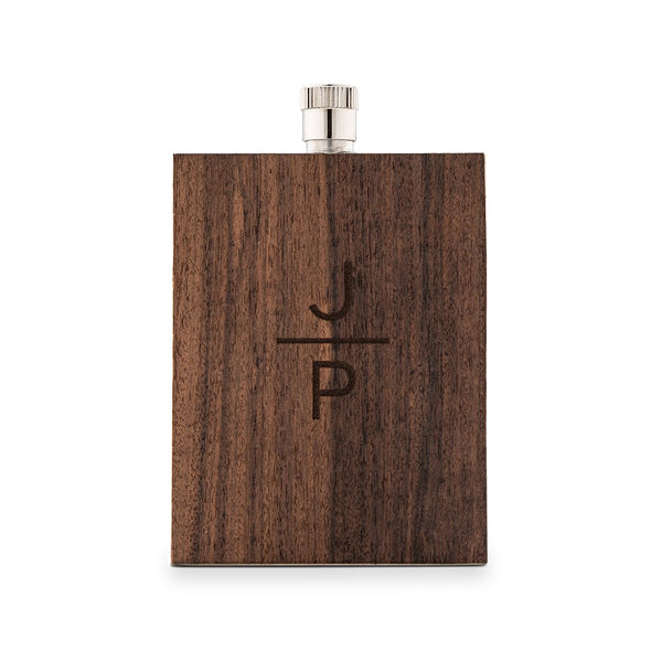Personalized Groomsman Wood Wrapped Flask