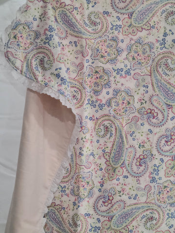 My Favorite Blanket Pastel Paisley Lace Trimmed