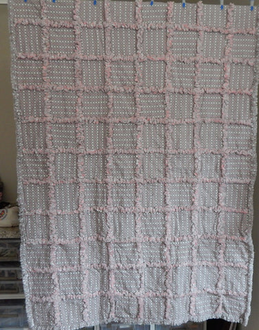 Rag Quilt-Gray Diamonds