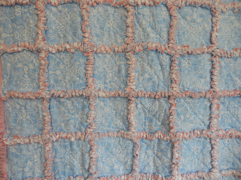 Rag Quilt-Periwinkle-Pink
