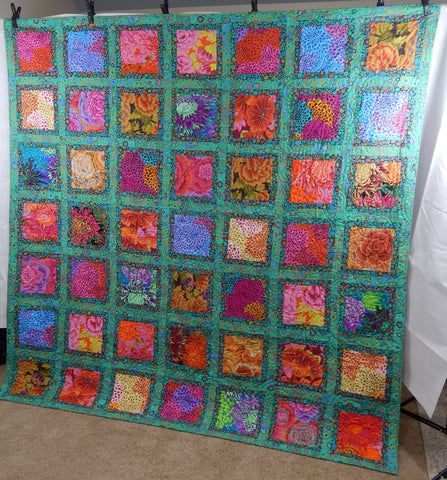 Pieced Kaffe inspired Quilt