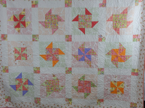 Pieced Pinwheel Quilt