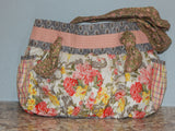 Knotty Purse Peach/Gray Floral
