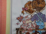 Embroidered Kitchen Towel-Love