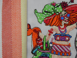 Embroidered Kitchen Towel-Beach Time