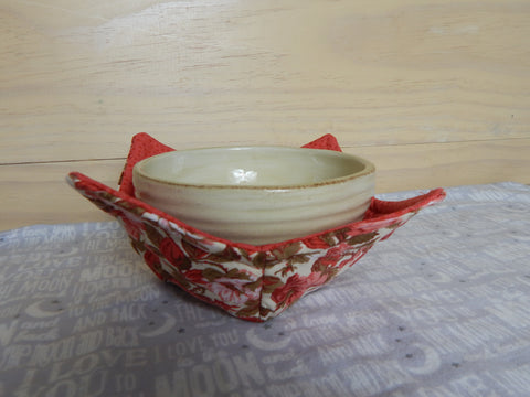 Microwaveable Fabric Bowl-Coral Roses