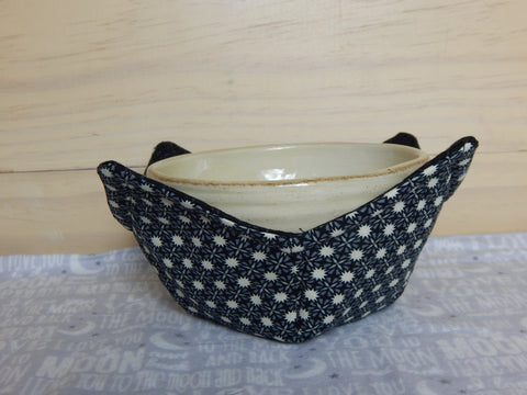 Microwavable Fabric Bowl-Black/Tan