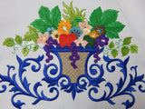 Embroidered Kitchen Towel-Bounty-Blue