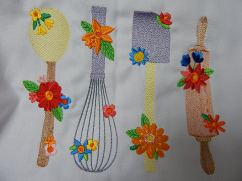 Embroidered Kitchen Towel-Utensils-Multicolor