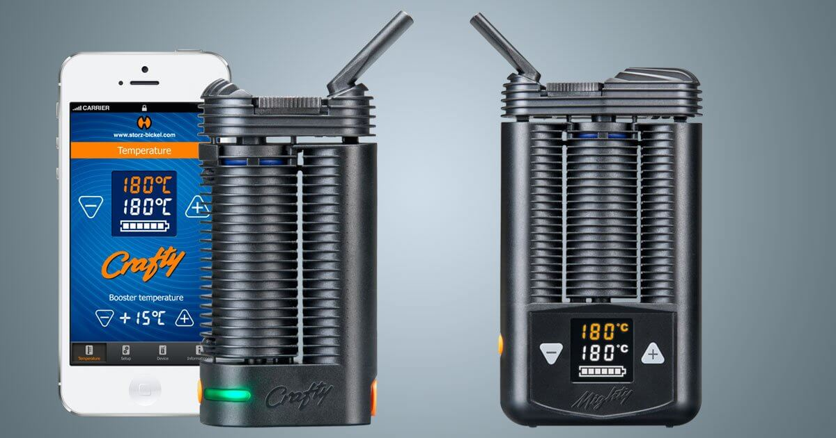 Storz and Bickel's Crafty and Mighty | Namaste Vapes