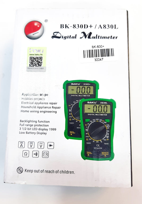 Digital Multimeter - Baku (BK 830D+ / A830L
