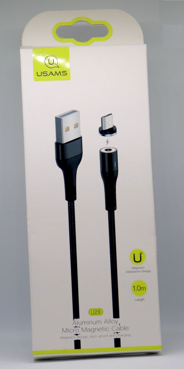 USAMS - Aluminium Alloy Micro Magnetic Braided Fast Charging Cable - ebuy.lk
