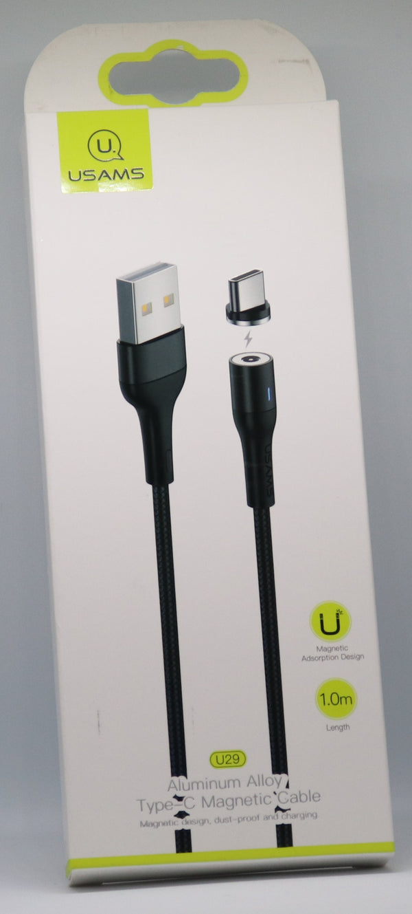 USAMS - Aluminium Alloy Type-C Magnetic Braided Fast Charging Cable - ebuy.lk