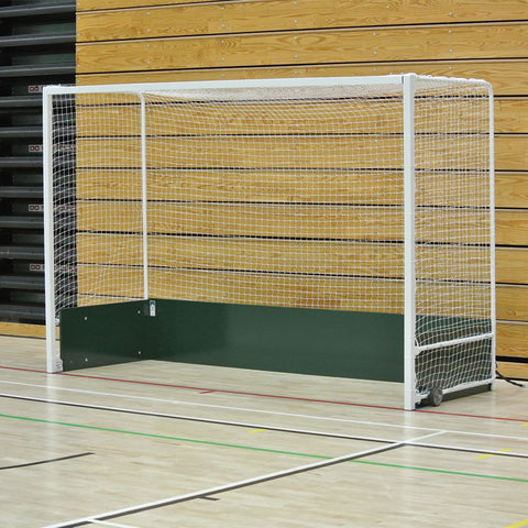 Goals - Harrod Sport Steel Indoor Folding Wheelaway Hockey Goal Posts with Nets