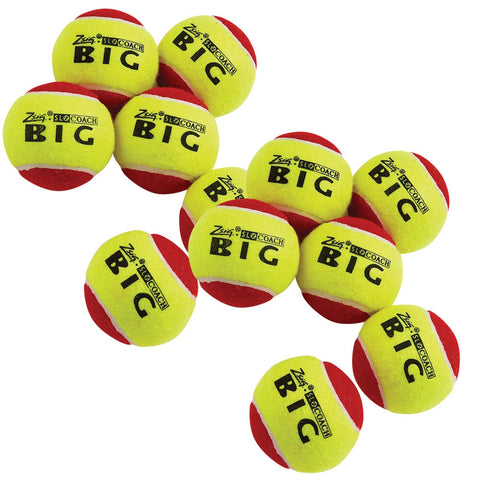 Balls - Zsig SLOcoach Big Red Mini Tennis Balls 12 Pack
