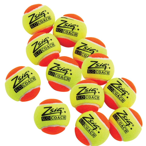Balls - Zsig SLOcoach Mini Tennis Ball 12 Pack