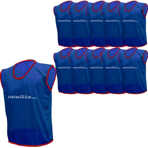 Newitts Plain Training Bibs - Blue