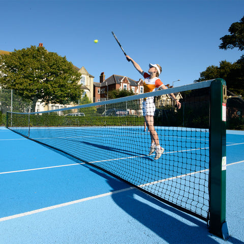 Tennis Posts - Harrod Sport 76mm Socketed Square Steel Tennis Posts