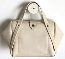 Load image into Gallery viewer, plum frrry bag. champagne colour. leather.