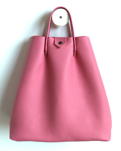 Monday frrry tote bag. shoulder strap. pink