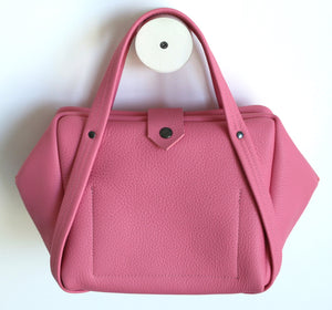 plum frrry bag. pink colour.