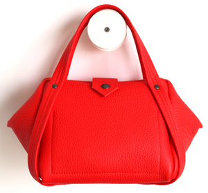 bes small leather bag frrry pepper, red, bright colour