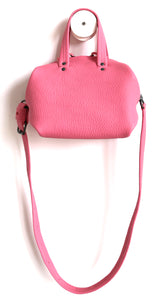 frrry mini moon pink leather bag with shoulder strap