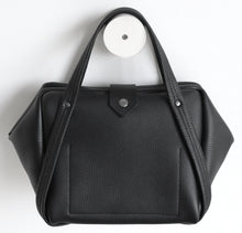 Load image into Gallery viewer, plum frrry bag. black colour. soft leather.