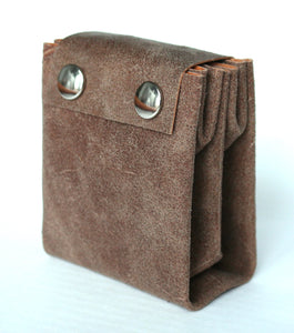 A4 wallet frrry suede sand sabbia vegetable tanned leather