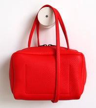 Load image into Gallery viewer, Tuesday. small frrry bag. shoulder bag. hand-held-bag. evening bag. thin strap. zipper closure. pepper colour.
