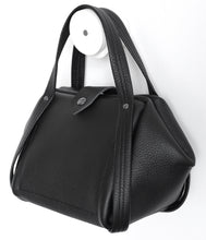 Load image into Gallery viewer, bes frrry bag black small handbag beauty. side-view. folded corner