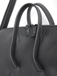 Wednesday frrry bag. black. handles. strong attachment. made to last. sustainable.