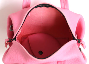 frrry mini moon pink leather bag inside view