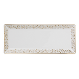 Spangles White Rectangular Plate 13 3/8""