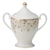 Spangles White Sugar Bowl & Lid