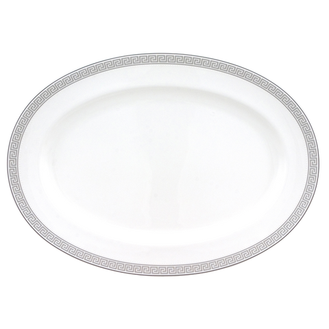 Greek Key Oval Platter 14-1/4""