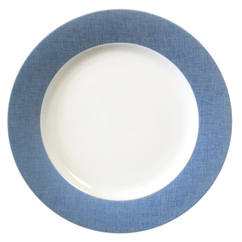 Fanciful Blue Round Platter 12""
