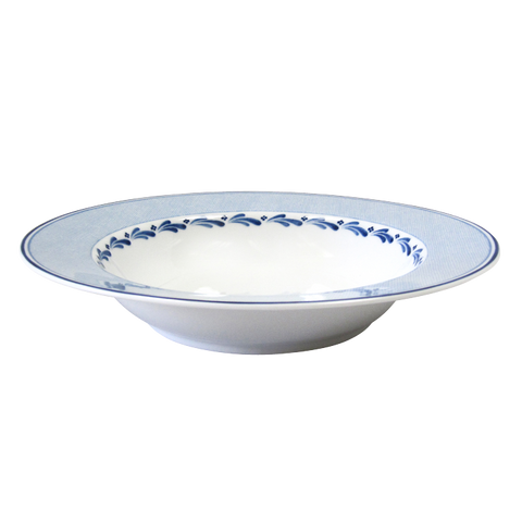 Blue Brushstroke Soup Pasta Bowl 9""