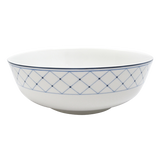Blue Brushstroke Vegetable Bowl 9""